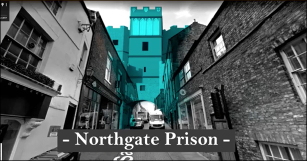 Image taken from Heritage Hunter-Gatherer prototype. Digital overlay of Durham Northgate prison.