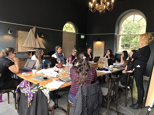 Sharing research ideas at a recent CRiVA away day
