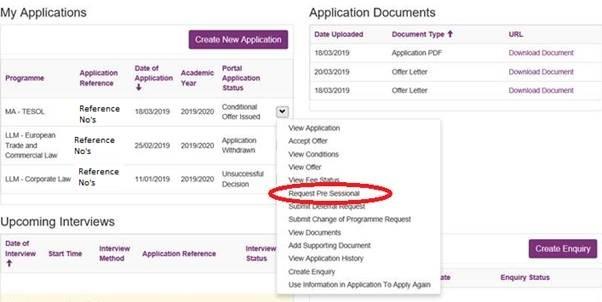 Application Status Enquiry