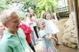 Children at the Botanic Garden