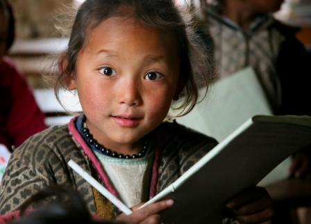 Student at Himanchal School Nangi Village - Nepal