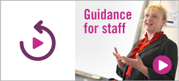 Guidance for staff