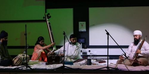 Hindu Musician Setup at an event