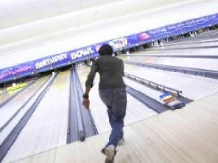 Students bowling at Teesside Retail Park