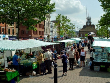 Stockton's outdoor market