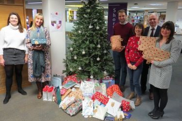 Gifts donated under the Christmas Wish Tree