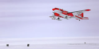 Snow Eagle aircraft take-off