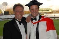 Andrew Strauss receives honorary degree from Durham University