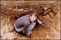 Anthony Harding in my ditch, Danby Rigg 1986 (it proved to be Viking not Bronze Age).