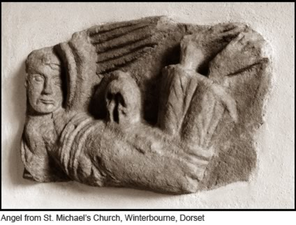 Angel from St. Michaels Church, Winterbourne, Dorset