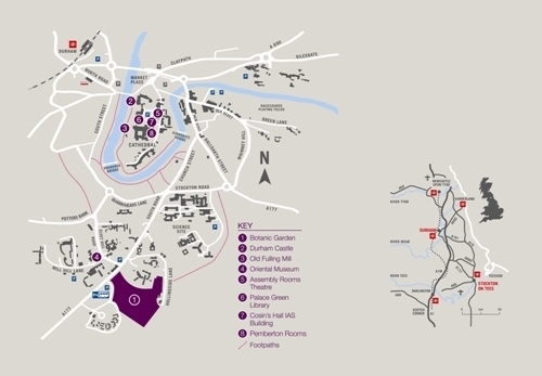 College University: Durham University Colleges Map