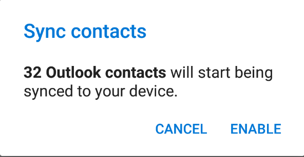 Android sync contacts