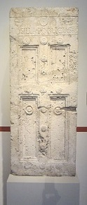 Grave stele in the form of a door