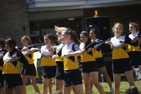 Van Mildert Day - cheerleaders