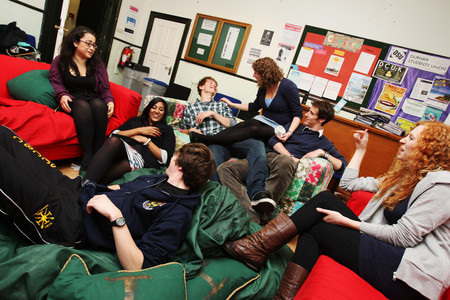 St Chad's College common room