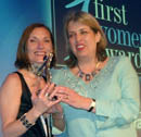 Lisa Vickers and Dinah Bennet receive the award