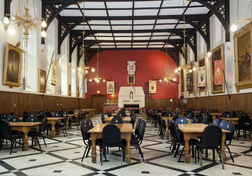 The refectory / dining area