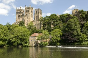 Durham Cathedral and riverbanks