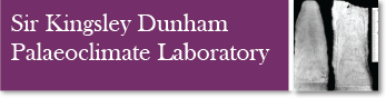 Sir Kingsley Dunham Palaeoclimate Laboratory Banner