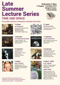 Late Summer Lectures 2019 Poster