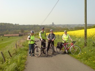 Bike group members near Old Durham
