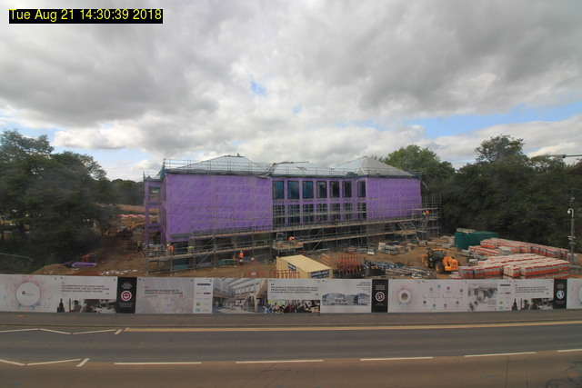 View from South Road, Tuesday 21 August, 2018