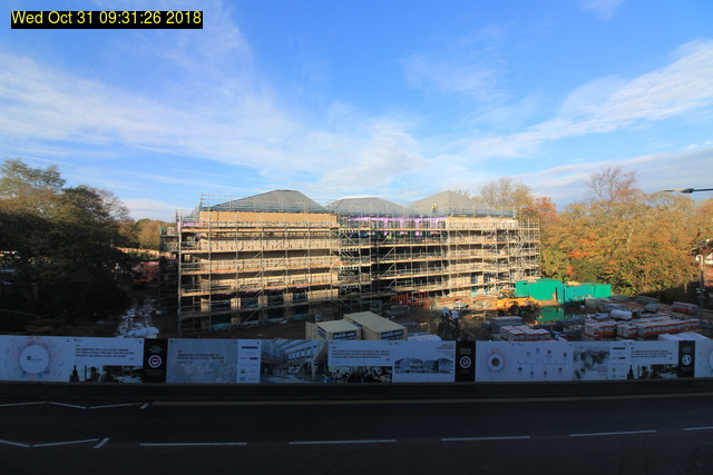 View from South Road, Wednesday 31 October 2018