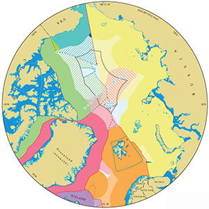 The updated Arctic map of maritime boundary jurisdiction