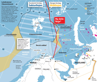 Norway-Russia maritime boundary map