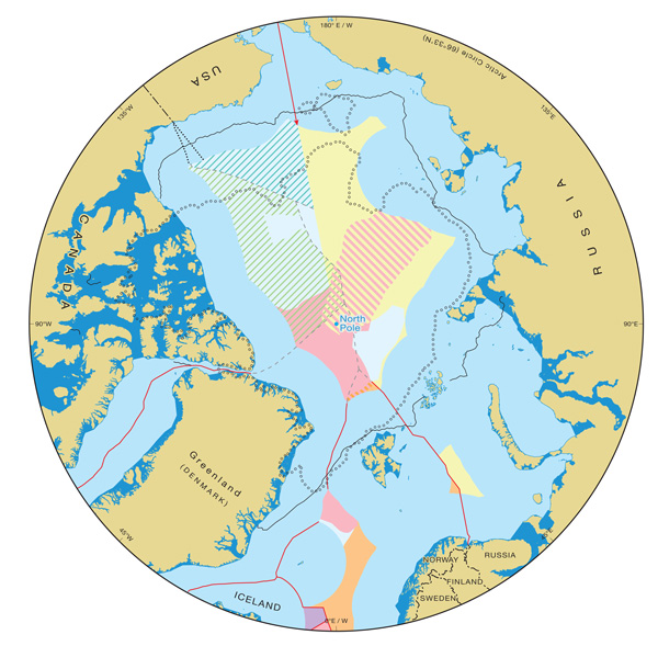 Arctic Circle Russia Map.Ibru Centre For Borders Research Arctic Maps Durham University