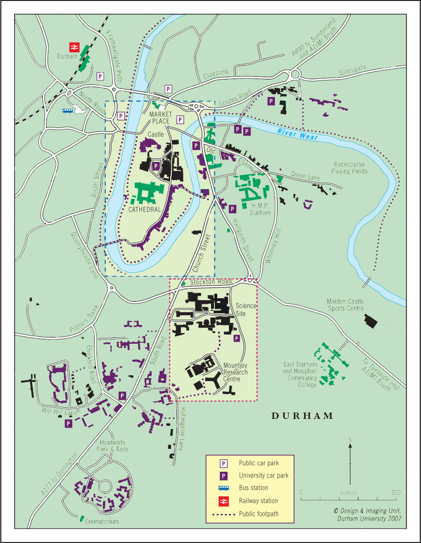 Map Of Durham City Global Durham : Maps   Durham University