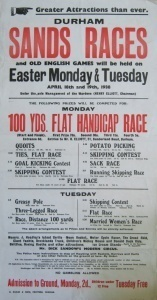 Durham Sands Races poster, 1938