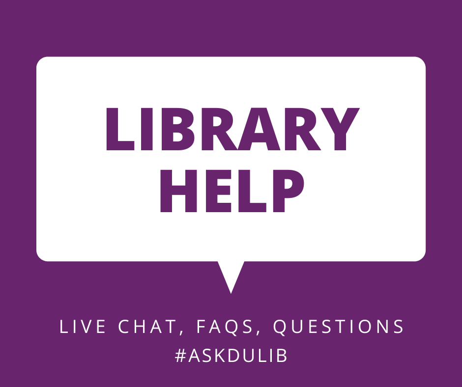 Library Help - ive chat, FAQs, questions