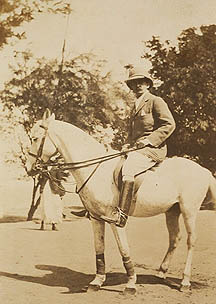 R.P.S. Elderton on horseback [SAD.1/22/24]