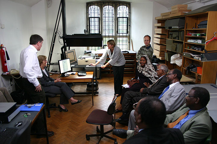 Visit by SUDAAK to Sudan Digitisation project
