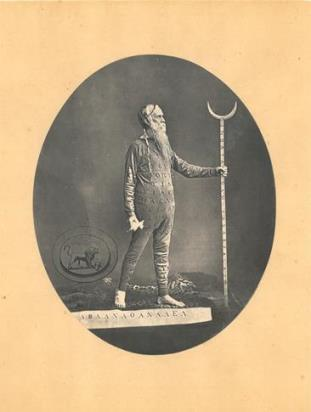 Dr William Price in Druidic costume, 1871. (CRE/C/UK1/1871/2)