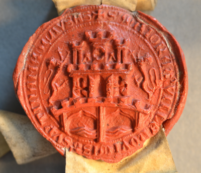 Image of seal. Ref: DCD 1.4.Spec.115 (20 Feb 1483). Reproduced by kind permission of the Chapter of Durham Cathedral.
