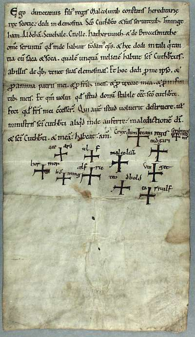 Image of DCD Misc.Charter 554. Reproduced by kind permission of the Chapter of Durham Cathedral.