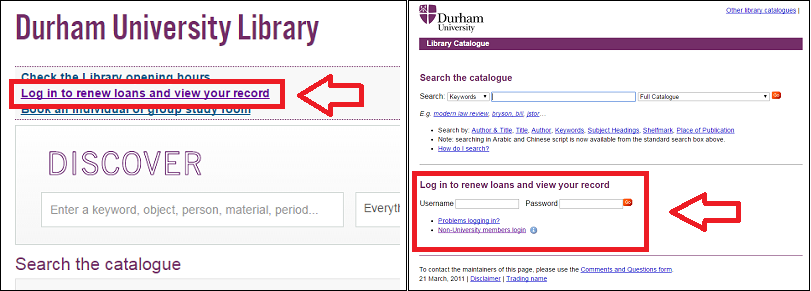 Accessing your library account
