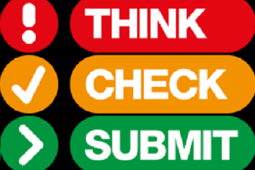 Think! Check! Submit!