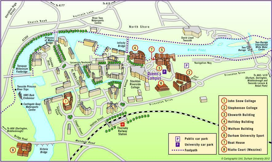 University Maps : Queen's Campus 3-dimensional map ...