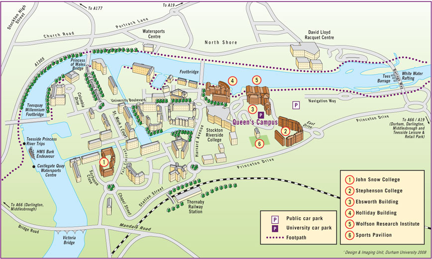 Durham University College Map | Colleges and Universities