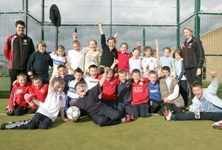 Goal! Local kids show their great sporting talent, thanks to Durham University and Middlesbrough Football Club in the Community