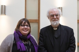 Dr Bex Lewis and Dr Rowan Williams