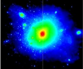Computersimulation af mørkt stof om Mælkevejen
