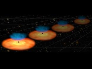 Black holes shed light on expanding Universe