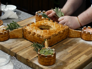 Image of recreation of Medieval food