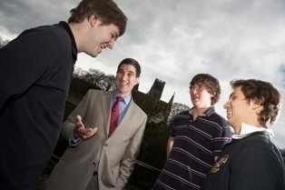 Prof Anthony Forster with students