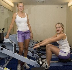 Durham rowers, left Frances Fletcher, right Emma Steel