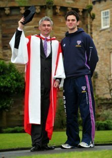 Jonathan Edwards and Captain of Athletics, Olly Briggs